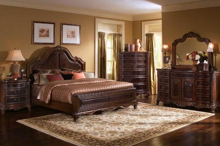 спальне из массива дерева