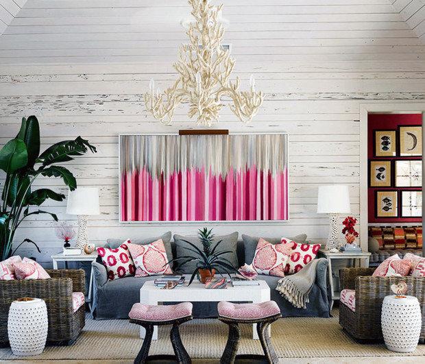 Текстиль в интерьере жилого дома